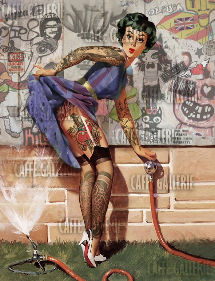 Pin up Girl watermarked