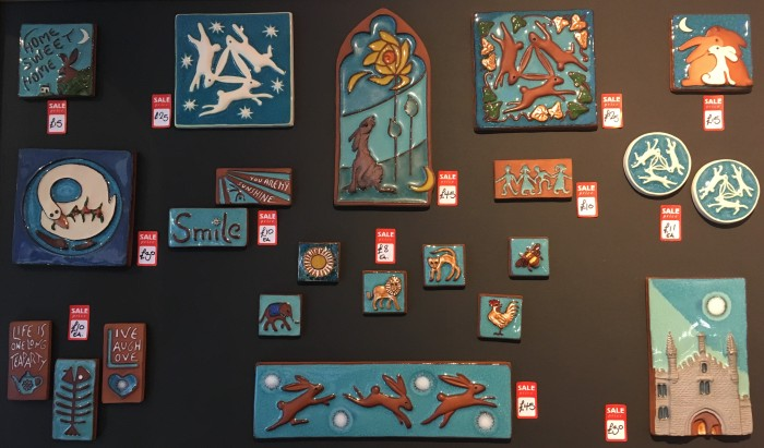 Various handmade ceramic tiles by Anne Marie Hopkins, £8 - £45