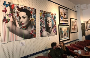 urban art exhibition chloe rox at caffe gallerie, plymouth